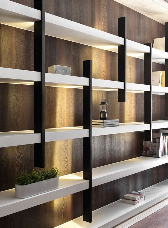 wall bookcase design in - photo #34