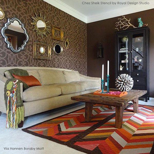 Chez Sheik Moroccan Stencil, tone on tone colors