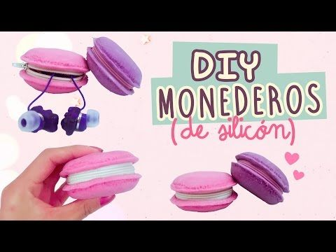 DIY MACARRONES| MONEDEROS DE SILICÓN | Con Catwalk & Así O Más Fácil | COOKIES IN THE SKY - YouTube
