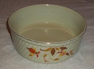 "Vintage HALL JEWEL TEA AUTUMN LEAF  French Casserole Baker Dish 7 7/8"""