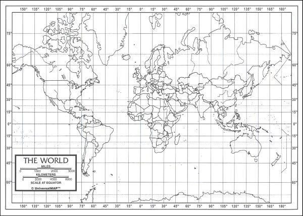It's just an image of Vibrant World Map With Latitude and Longitude Lines Printable