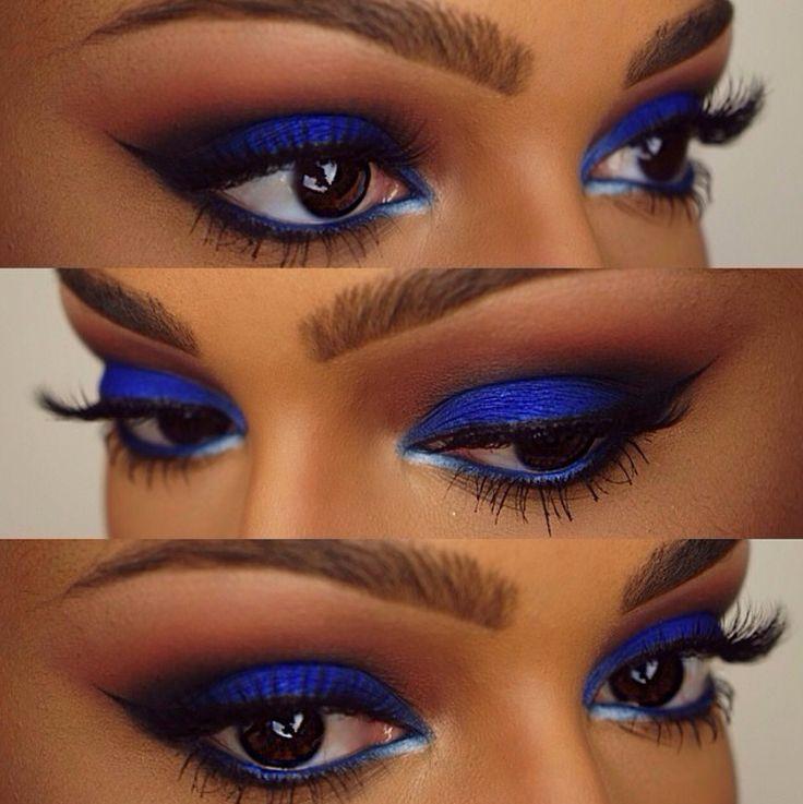 Sombra azul rey para ojos marrones