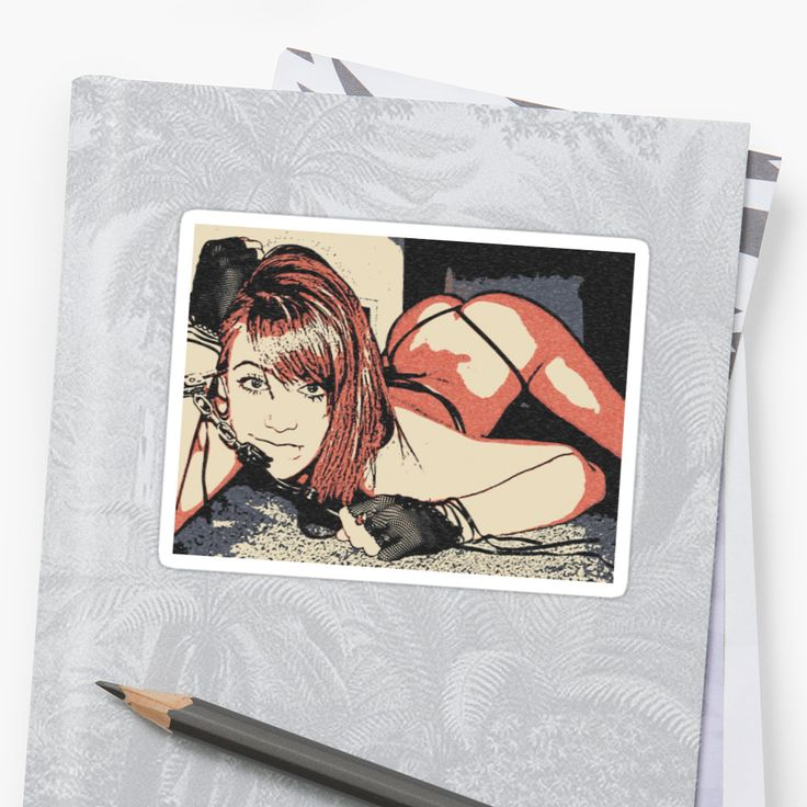 """Cuffs and """"Dat ass"""", sexy girl in submissive pose • Also buy this artwork on stickers, apparel, phone cases, and more."""