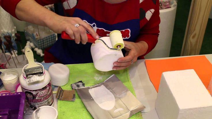 Aprenda a fazer um bolo falso imitando Pasta Americana. Só Isopor - www....
