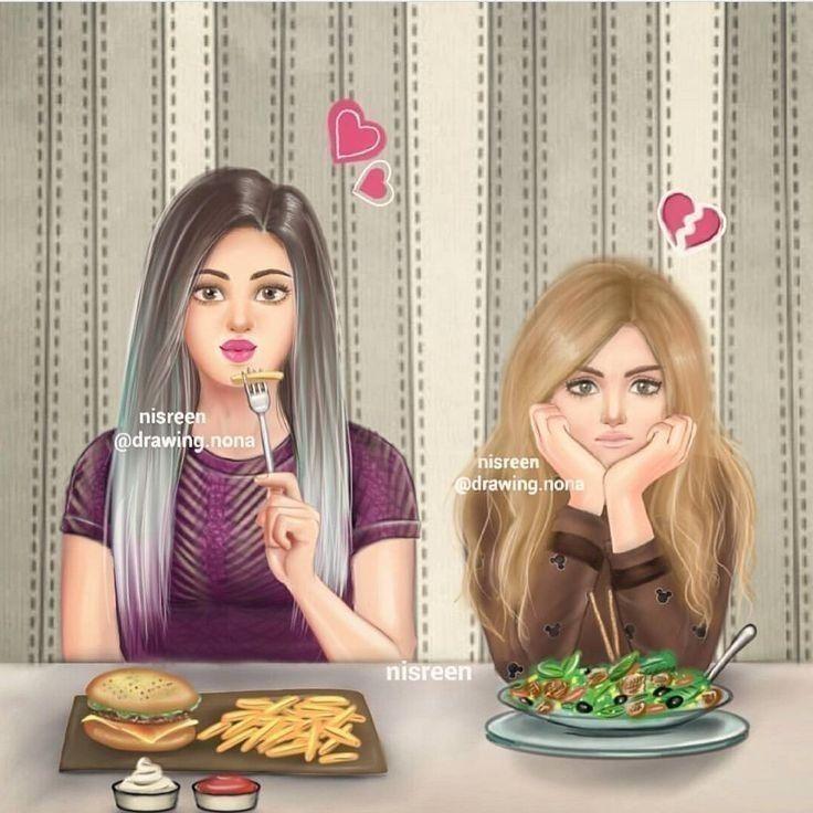 Pin By Valeriya Cvindra On My Dpz Cute Cartoon Girl Cute Girl Drawing Girly M