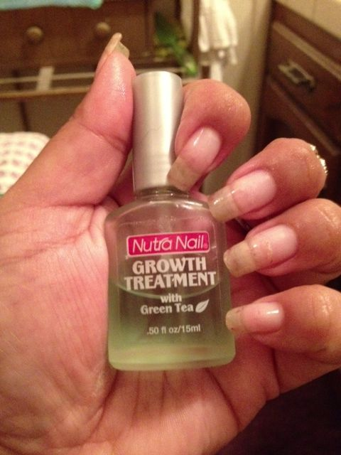 Nutra Nail Growth Treatment with Green Tea. I've been using this to help grow my nails... I LOVE how it works.....