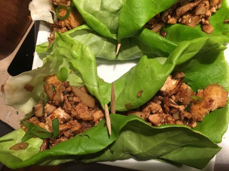 Those tofu and mushroom lettuce wraps sure did turn out lovely and delicious!
