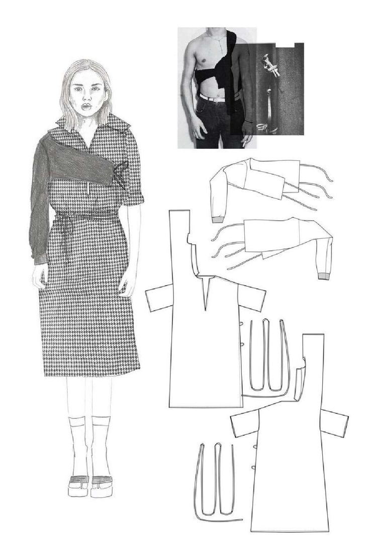 Fashion Sketchbook - fashion illustration & flats; fashion student portfolio // Masha Latman