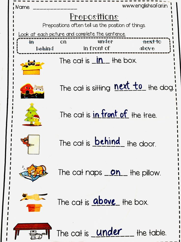 prepositions worksheet pack FREE www in 2020 (With images