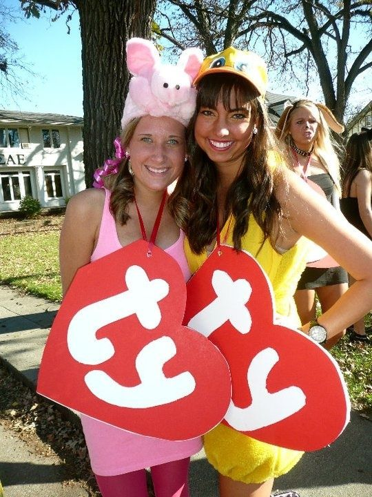 cls sorority girl inspired diy halloween costumes college lifestyles super cute ty beanie babies and you can do absolutely anything - Homemade Halloween Costumes College Girls