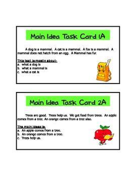 ... main idea on Pinterest | Activities, Literacy centers and Main idea