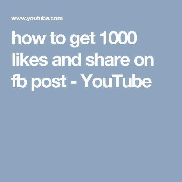 how to get 1000 likes and share on fb post - YouTube