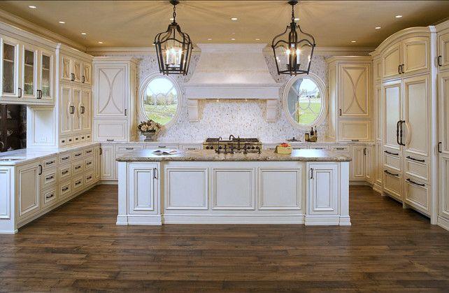 White French Kitchen Design. #White #French #Kitchen