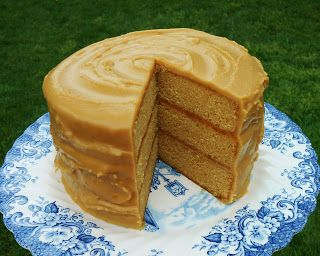 Butterscotch Cake with Caramel Icing - recipe at bakeoutsidethebox.blogspot.com