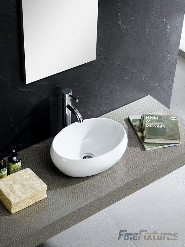 Modern Ceramic Circular Vessel Bathroom Sink in 2018 Bathrooms