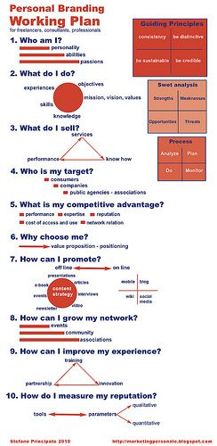 Personal branding working plan | Flickr - Photo Sharing! #branding #brand #infographics