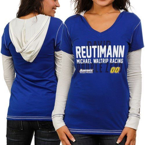 NASCAR Chase Authentics David Reutimann Ladies Double Layer Hooded Long Sleeve Premium T-Shirt - Royal Blue/White (Small) by Football Fanatics. $34.95. Chase Authentics David Reutimann Ladies Double Layer Hooded Long Sleeve Premium T-Shirt - Royal Blue/WhiteScreen print graphicsLightweight ribbed T-shirtImportedTagless collarRib-knit v-neck collar & cuffs100% CottonContrast stitchingSewn-in hood and sleevesOfficially licensed NASCAR product100% CottonLightweight ribbed T-s...