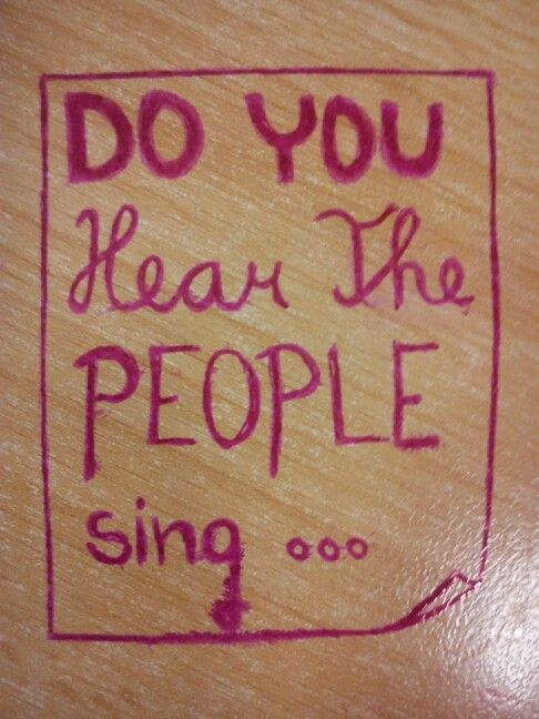 Les misérables - song of the people...
