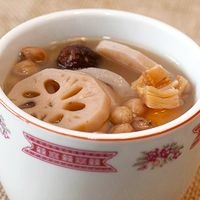 Love this! Lotus Root soup with pork ribs and peanuts!