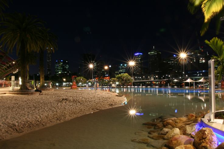 Southbank Pool - KIM Altitude on 12m poles. Utilising the latest in LED and Pico Prism technology, we manage to illuminate the entire beach with just 4 fixtures and 2 for the pathway behind. Custom Pearl Grey Finish.