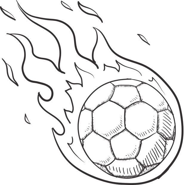 Steps To Draw A Soccer Ball On Fire Steps To Draw A Soccer Ball On Fire Steps Draw Soccer Soccer Drawing Soccer Ball Art Activities For Kids