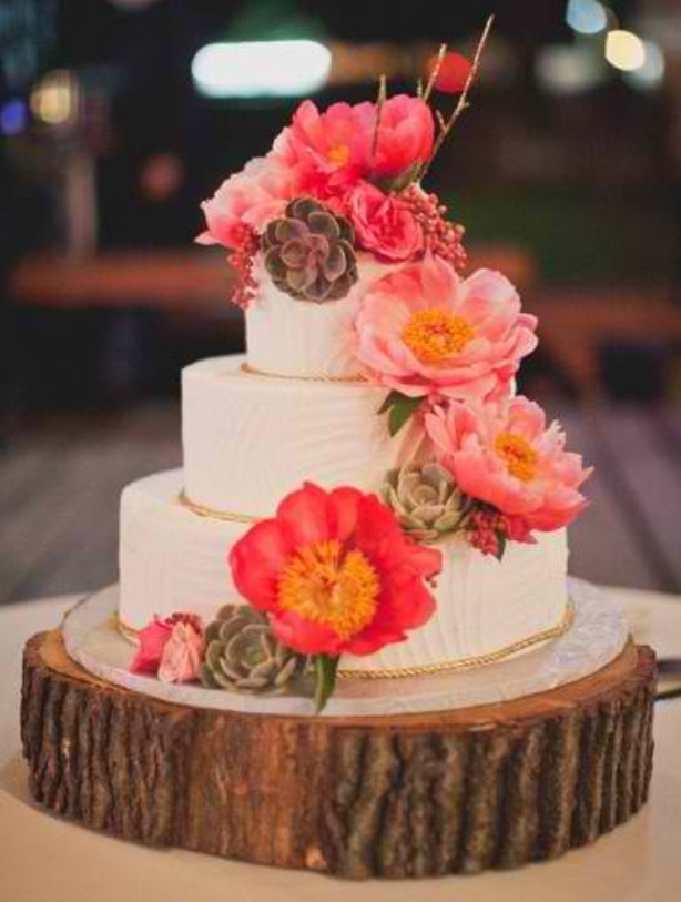 67 best Rustic Wedding Cakes images on Pinterest Country ...