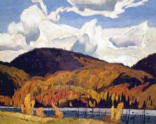 CASSON, A.J. - Canadian artist (1898-1992): -- 'Redmond Bay'.