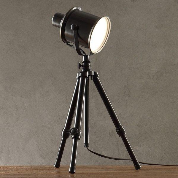 MID-CENTURY LIVING Director's Adjustable Tripod 1-light Spotlight Lamp