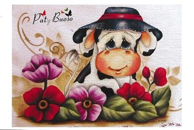 Kit EXCLUSIVO Paty Buoso - DVD Pintura em Tecido + 5 Projetos
