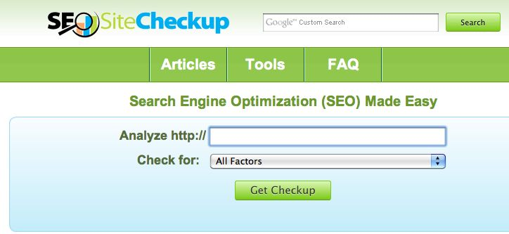 SEO Site Check Up   Great tool for producing SEO site audits!