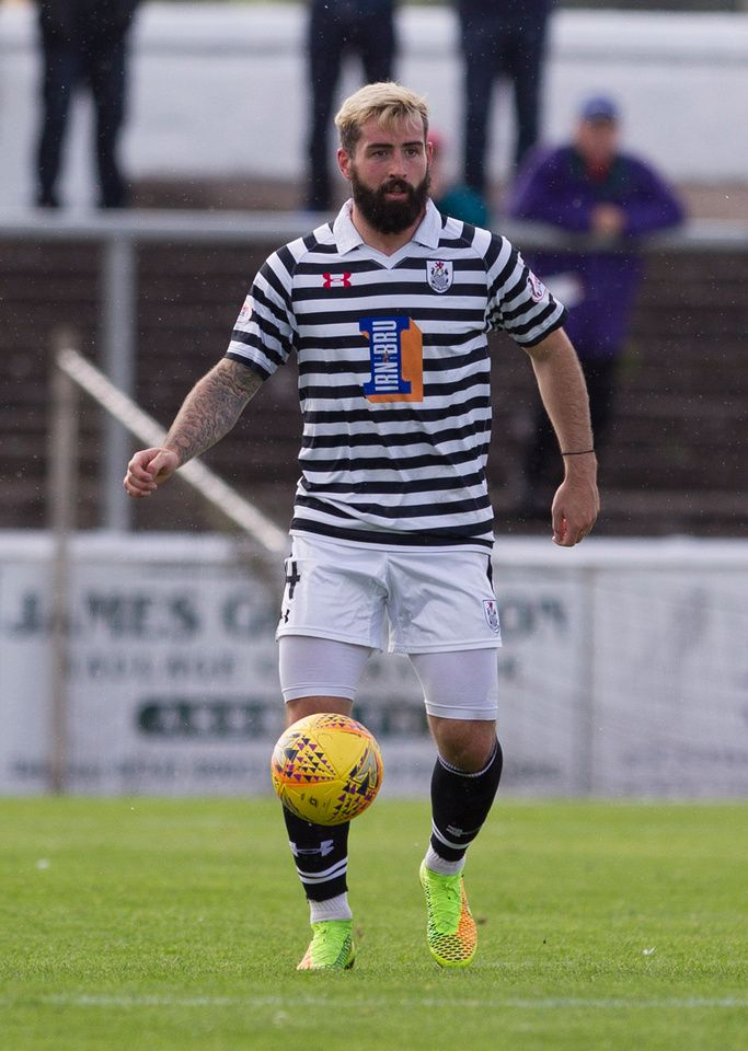 Queen's Park's Bryan Wharton in action during the SPFL League One game between Arbroath and Queen's Park.