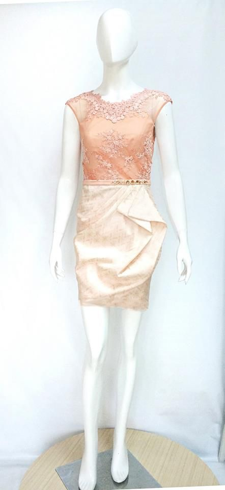 Our lovely Michelle Dress in Peach Sorbet, inspired by the beautiful Michelle Obama.