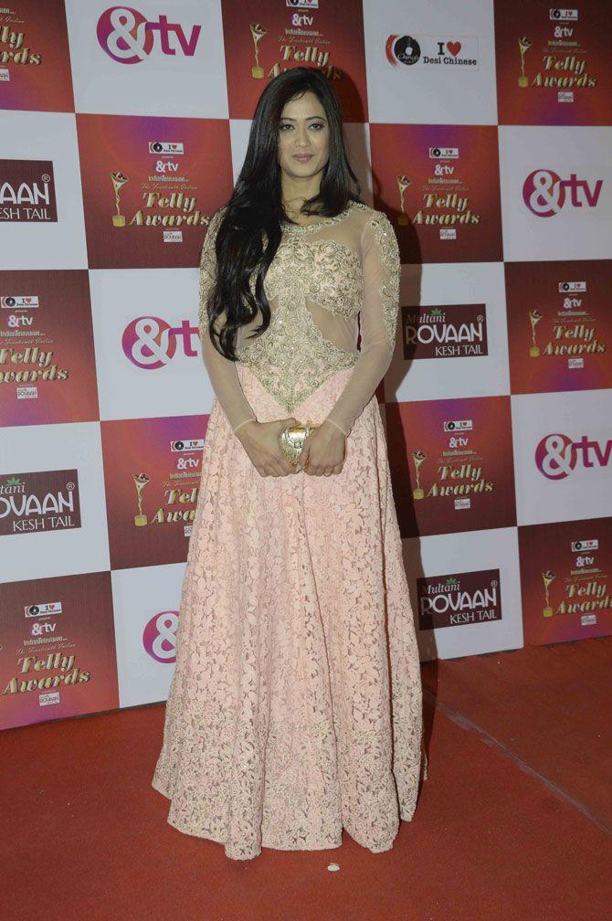 Shweta Tiwari at the Indian Telly Awards 2015. #Bollywood #Fashion #Style #Beauty #Hot