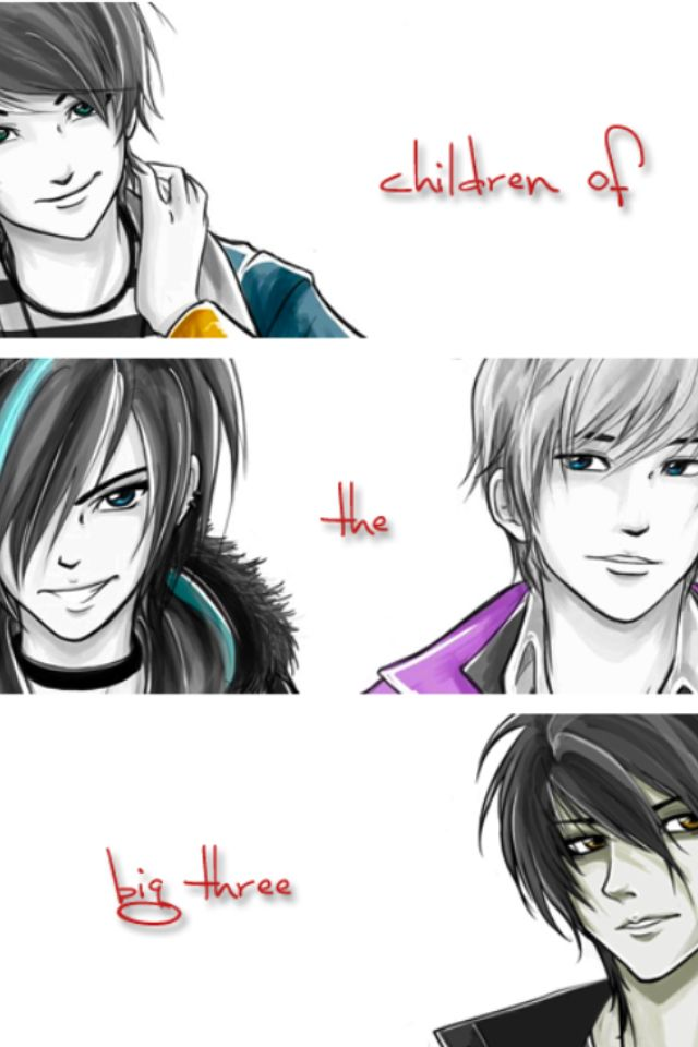 Percy Jackson  Thalia Grace                             Jason Grace  Nico di Angelo=all of my favorite half-bloods! 8D Actually I love the Stolls and Leo, too.
