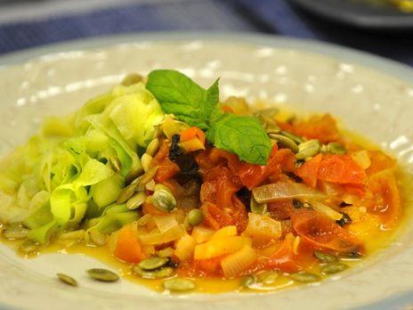 Anna Skippers pasta på zucchini är ett bra alternativ för den som vill dra ner på kolhydraterna.