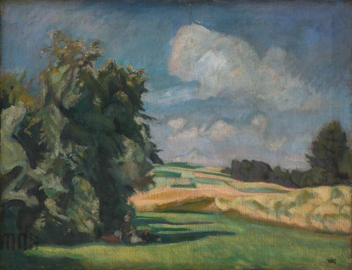Wojciech Weiss, Lato, 1917, Muzeum Narodowe w Krakowie #summer, #lato, #Weiss, #malarstwo, #painting, #mnk, #muzeumnarodowe, #nationalmuseum
