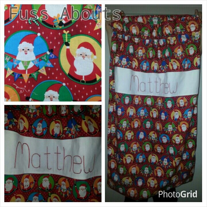 Personalised Christmas sack...www.facebook.com/fussabouts