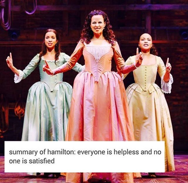 Okay but I can't be this only one who looks at the Schuyler sisters and thinks of the Heathers