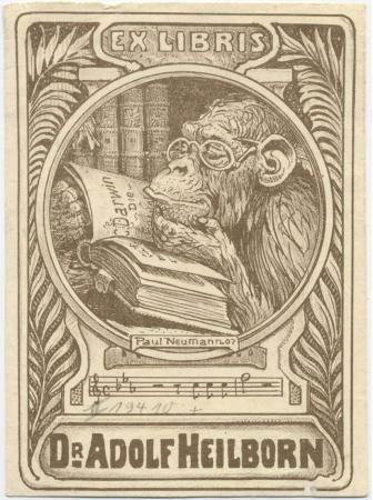 Exlibris von Dr. Adolf Heilborn
