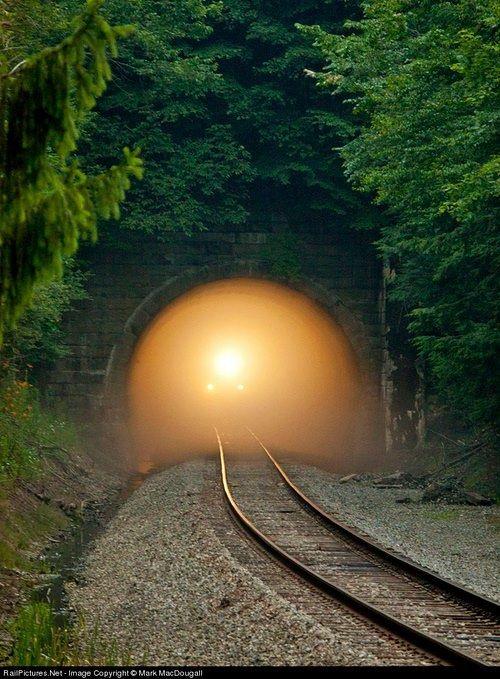Rail Tunnel, Pennsylvania ~Light at the beginning of the tunnel?