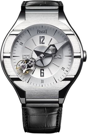 Piaget Polo watch = large hour indicator / small triangle indicator for minutes ie 2:50 is the time displayed here ⌚️