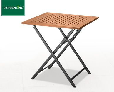 GARDENLINE® Alu-Klapptisch mit Holzplatte