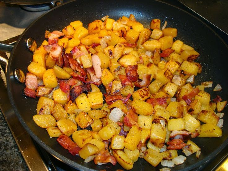 CARB WARS BLOG: HOME FRIES WITH FAUX POTATOES