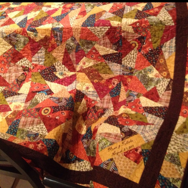 Quilt Patterns For Wedding Gifts : Buggy Barn Crazies pattern. I made this quilt for a wedding gift for my son and daughter-in-law ...