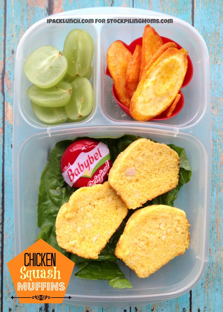 3 for 3 Lunch Challenge - Lunchbox Ideas that help keeping packing lunches easy and nutritious (Rotisserie Chicken, Pureed Butternut Squash, Green Grapes)