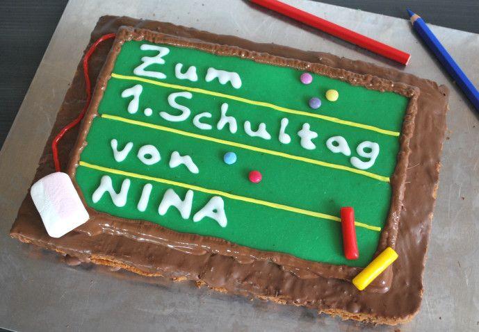 Einschulungskuchen - Kinderspiele-Welt.de
