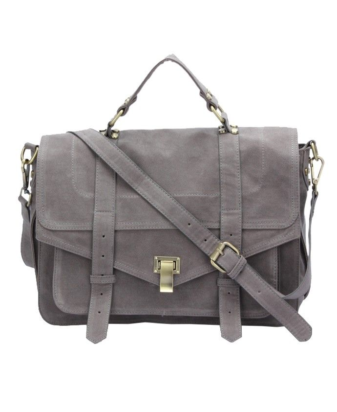 Faux Leather Messenger Bag - Bags - Accessories