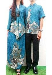 songket couple warna biru