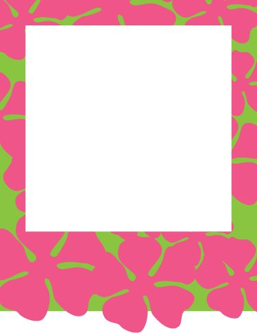 Free printable luau invitations in various color combos - some with wording and some blank.