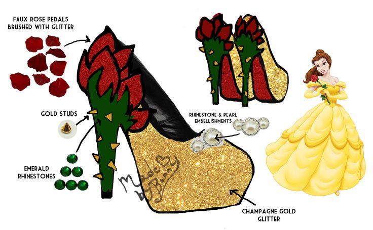 Beauty And The Beast High Heel Shoe